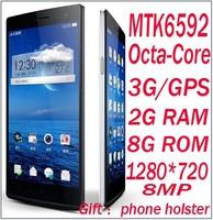 new mtk6592 Octa Core V6 p780 P6 H3 phone  Android 4.4 Ram 2GB Rom 8GB smartphone 3G WCDMA GPS 8MP camera HD screen phone
