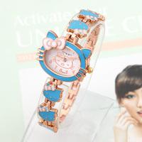 Fashion Watches Hello Kitty Kids Quartz Watch Brand King girl Wristwatches Casual Vintage Relogio Cartoon watch Cheap 2014