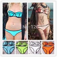 Fast Delivery! Women Neoprene Swimwears Triangl Swimwear Neoprene Bikinis New Summer Neoprene Swimsuit Bath Suit Bathsuit