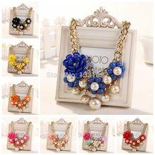 2014 luxury fashion short statement Necklaces & Pendants resin color fashion women necklace gift