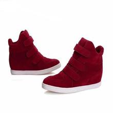 2015 Hauteur de la mode élégante augmentation Sneakers dame bottes de travail des femmes confortables chaussures de sport occasionnels HF-1520(China (Mainland))