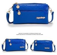 New fashion luxury girls handbag desigual PU leather solid color shoulder bag fashion Alligator zipper for women messenger bag