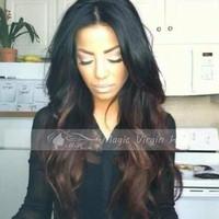 Ombre Wig Brazilian Virgin Hair Full Lace Human Hair Wigs Glueless Full Lace Wigs Lace Front Wigs For Black Women