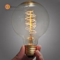 G80(Spiral Silk) Good Price,Vintage Incandescent Edison Bulb For Decoration,E27/110v-220V/40W, Antique Vintage Edison lamp Bulb