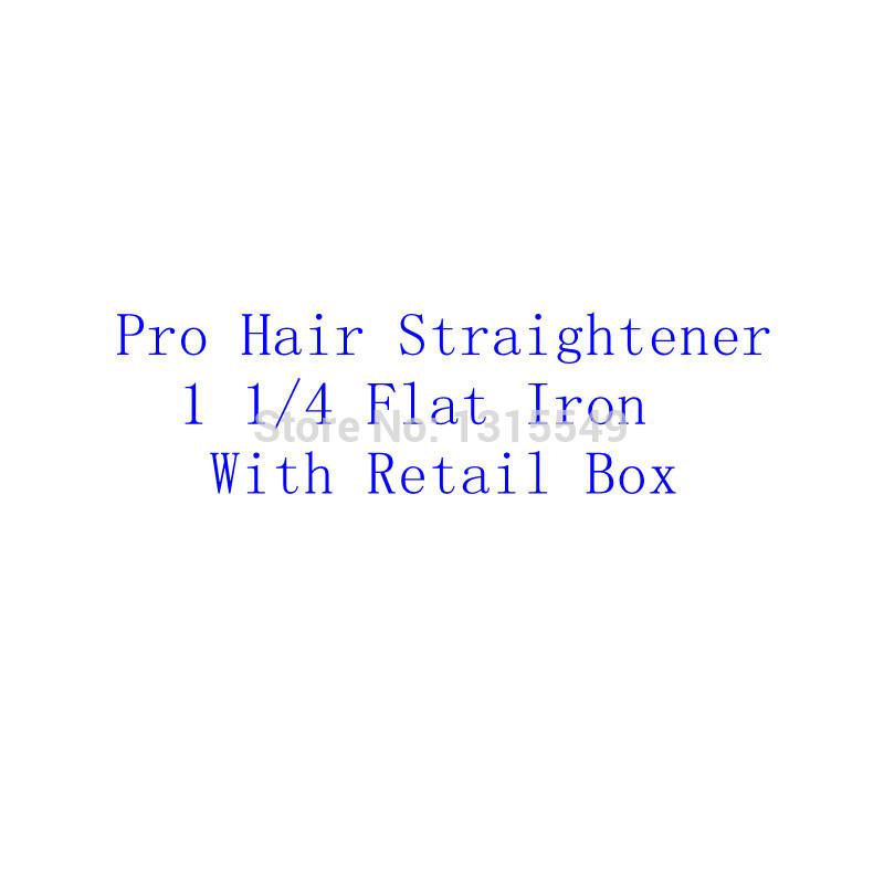 Chapinha Prancha Hair Straightener Professional Ceramic Straightening Iron 1 1/4 &1 3/4 Plate LED Flat Iron Hair Styling Tools(China (Mainland))
