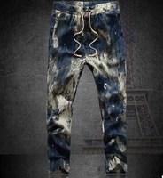 2014 new mens pants flower print slim casual pants men linen trousers joggers Ankle length 85~92cm 10 colors plus size 6XL