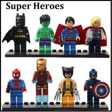 8pcs The Avengers Super Hero Figures MinifiguresToys of Bulilding Bricks Blocks Compatible With Lego(China (Mainland))