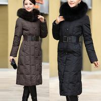 2014 Winter Coat Women 7XL Plus Size Winter Jacket Women Large Fox Fur Ultra Long Down Coat Women Frozen Long Parka Womens 1301