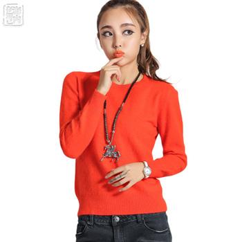 100 кашемир пуловер женские свитера весна норка кашемир женщины Oneck вязаный свитер ...