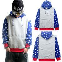 Pyrex Hoodie Plus Loose Thick Fleece High Cotton Full Mens 2014 Fashion Hip-Hop Stars Gray/Blue Hooded Pullover Sweatshirt HBA