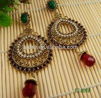 2014 New Sale Vintage Earrings for women Fashion Statement Jewelry Drop Earrings Brincos Stud shipping