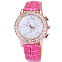 Free shipping dropship wholesale watch women brand leather strap black snowflake crystal rhinestone quartz wristwatch for women