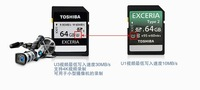 New 64GB Class 10 Memory Card Toshiba 95/60M SD Card for PC Laptop DC DV SLR Carema