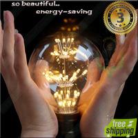 wholesale 2014 goodselling vintage LED light bulb long-life e27 220v G80 globe new design led babysbreath bulb savemoney