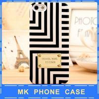New 2014 Gold Logo Brand phone case MK Michael Korss Amber Hard Plastic Case For iPhone5 5s 5g,For Apple iphone 5s