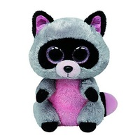 New TY Beanie Boos Rocco Grey Raccoon Plush Toys 15cm TY Big Eyes Plush Animals Brinquedos Kids Toys for Children