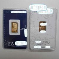 2.5 g Gold Bar/2.5 gram Gold Ingot (Non-magnetic)  SEALED PACKAGE, DIFFERENT SERIAL NUMBER (10pcs/lot)