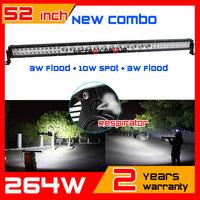 52inch 264w LED Light Bar IP67 10-30v LED Offroad COMBO Truck ATV LED Work Light Car External Light Save on 120w 180w 240w