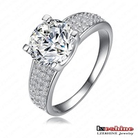 Wholesale New Arrival Unisex Rings 18K Gold/Platinum Plated AAA Swiss Zircon Fashion Jewelry Rings With Austria Crystal CRI0010