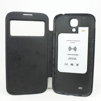 Free Shipping QI Standard Wireless Charger Adapter Receiver Cover Case For Samsung Galaxy S4 20pcs A Lots