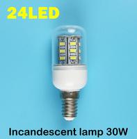 E14 24LEDS SMD 5730 (=Incandescent lamp 30W) LED Corn Bulb 220V - 240V Warm white cold white LED Lights