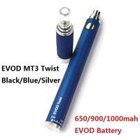 EVOD MT3 Twist Electronic Cigarette starter kits 1.6ml MT3 Atomizer 650,900,1000mah EVOD Battery MT3 EVOD Blister Kits Z20