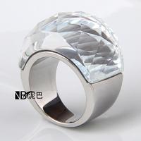 Wholesale  Stainless Steel Wedding Jewelry Supplies Big  Zircon Rings for women