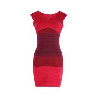 New Arrival 2014 Fashion Women Bandage Dress Sexy Slash Neck Off-The-Shoulder Sheath High Waist Mini Dress Party Dress 148007