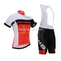 New 2014 men full zip cycling jersey/ cycling clothing/cycling wear + Bib shorts set  breathable quick dry S-3XL