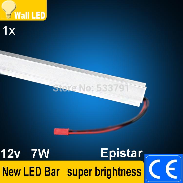new 7W 50CM Rigid Strip 5630 LED Bar U Groove Light Non-Waterproof 36LEDs/0.5M LED DC 12V 5630 LED Tube Hard LED Strip(China (Mainland))