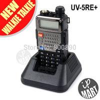 FS! BaoFeng UV-5RE+/5RE Plus (Black) Dual Band Transceiver 136-174Mhz&400-520Mhz Walkie Talkie 1800mAH Battery free earphone