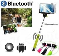 Bluetooth Selfie stick Extendable stick to selfie triopod for Mobile Phone + Wireless Remote Control selfs portrait