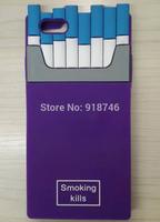 Fashion Brand Cigaret Silicone Case for iPhone 5 5G 5H 5S Smoking Kills Cigar Box Case for Iphone 4 4G 4S Cigarette Phone Cover