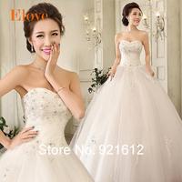 2015 Fashionable Sexy Renda Gown Curto Casamento Bride Festa Longo Romantic Vestido De Noiva Robe Mariage Wedding Dress WDE32