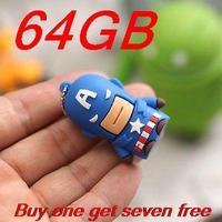 Christmas gift 64gb pen drive usb 2.0 U disk 64 GB Cartoon Hero Model Flash usb flash drive 32gb 16gb 8gb pendrive
