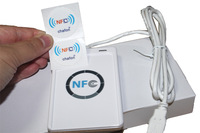 Original ACS ACR122U rfid NFC reader support all NFC Tags 5pcs IC card (ISO14443)and 2pcs NFC stickers(ISO/IEC18092)+CD