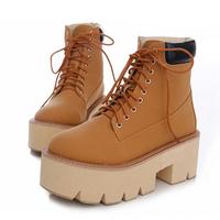 New Women Boots Punk Rock Heels Ankle Boots For Women Thick Heel Platform Autumn Shoes Motorcycle Shoes Botas Femininas ILXZ5002