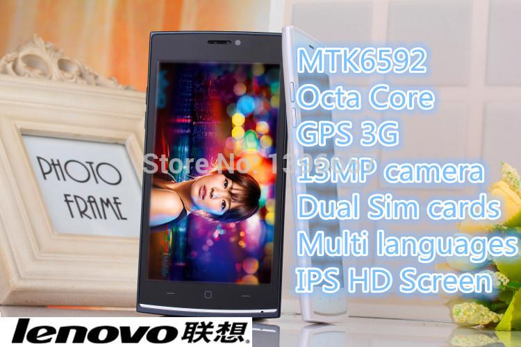 "New Original Lenovo s820 c Mobile Phone MTK6592 Octa Core 2G ram 8G rom 8MP 4.5"" 1280*720 HD Display 3G unlock free gifts(China (Mainland))"