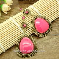 Indian jewelry Women Fashion Sale Water-drop Dangle crystal Earrings Free Shipping