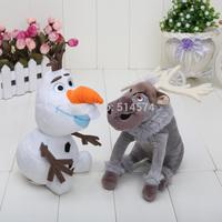 2pcs/set 20CM sven Plush Toys  New Princess Elsa plush Anna Plush Doll olaf plush