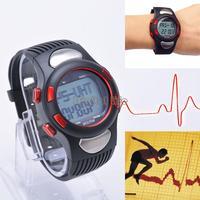 1pcs Heart Rate Monitor Backlight Sports Wrist Watch Stopwatch Alarm Clock Calories Pedometer Watch B19 SV007641
