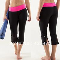 Supplex fitness wear women yoga crops, loose style cheap yoga capris