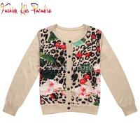 2014 autumn brand children sweater coat,high quality  babi girls floral outerwear jackets,designer kids sweater cardigans,3-12Y