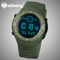 INFANTRY Relogio Men's Army Chronograph Day Date Alarm Analog Digital Quartz Wrist Watch Sport Siliconec NEW 3ATM Waterfroof