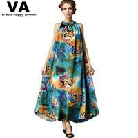 summer maxi long casual Plus Size Women Dresses turtleneck Printed sleeveless Dress for Woman 2015 new 5xl 4xl xxxl xxl P00065