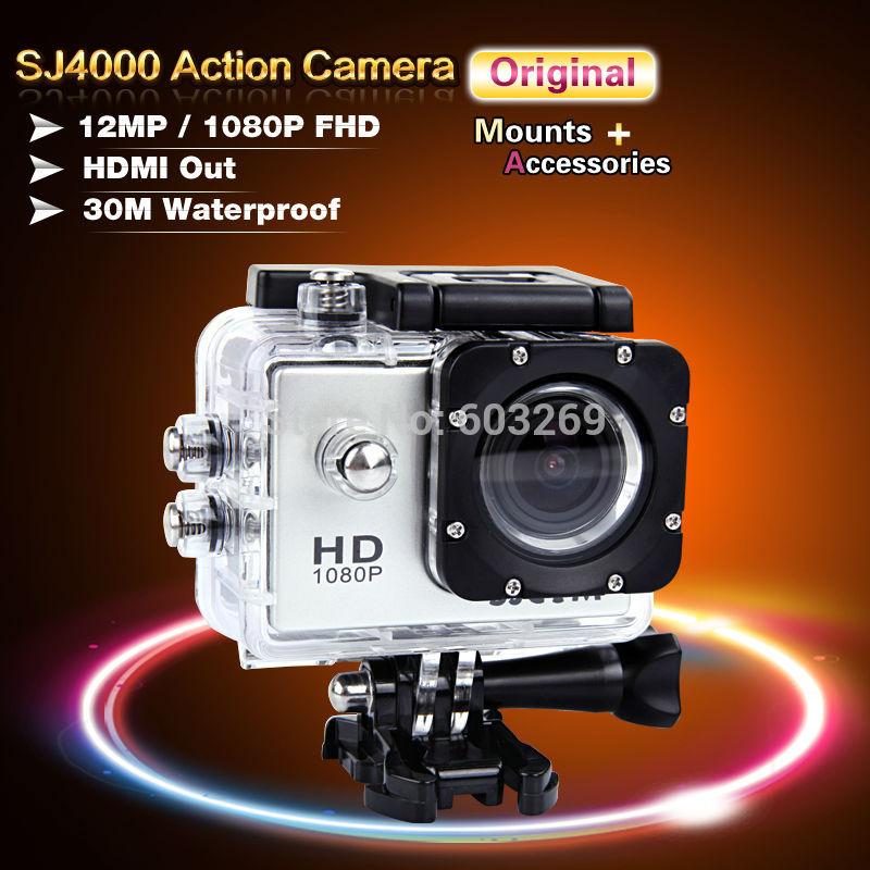 Original SJCAM SJ4000 Extreme Action Sport Camera Waterproof 1080P Full HD Mini Camcorders GoPro Hero3 Go Pro Hero 3 Styl Camera(China (Mainland))