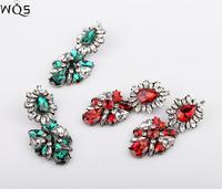 E0063 European and American retro palace big alloy earrings Crystal earrings temperament elegant lady banquet