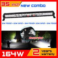 35 inch 164W LED Work Light Bar for Tractor ATV SUV 4x4 Offroad Fog light LED Light Bar External Light Save on 180w 240w