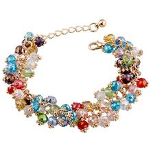 2014 Fashion Charm Chain &Link Bracelets & Bangles Gold Plated Crystal Bracelet Handmade Women Bracelet Jewelry For Best Friends