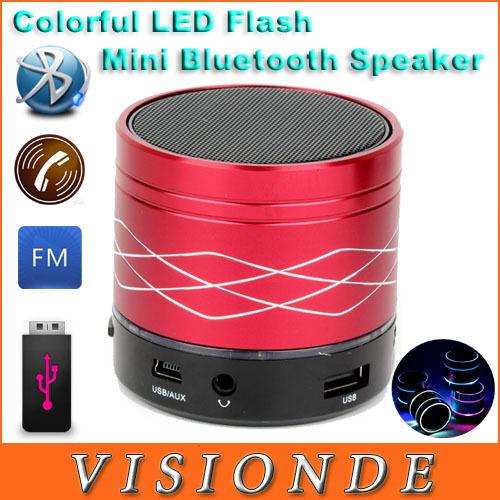 B13 Bluetooth Speaker Mini USB Flash Disk Sound Card Multi-Function Colorful LED Portable Wileress Speaker FM Radio(China (Mainland))